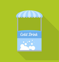Cold drink street shop icon flat style vector
