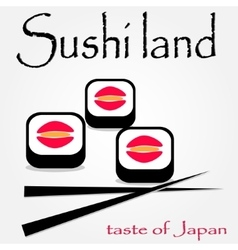 Colorful sushi logotype vector