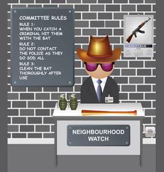 Comical neighbourhood watch committee vector