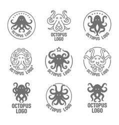 concept of a octopus logo vector image