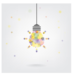 Creative light bulb Idea vector image