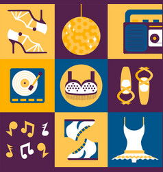 dance clothes and accessories in flat style vector image