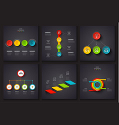 Dark elements for infographic template for vector