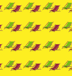 flat summer beach chair pattern vector image