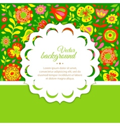Floral background for congratulations vector