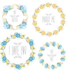 Floral frames set vector