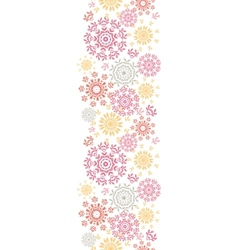 Folk floral circles abstract vertical seamless vector