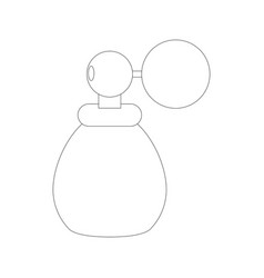Fragrance glass bottle vector