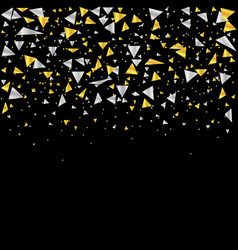 golden and silver confetti vector image