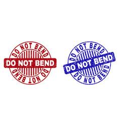 Grunge do not bend textured round stamps vector