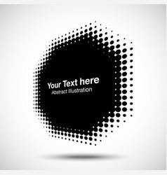 Halftone dots circle perspective octagon frame vector