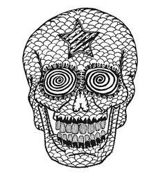 Hand draw skull vector
