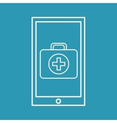 healthy technology with first aid box vector image