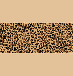 Leopard pattern seamless design vector