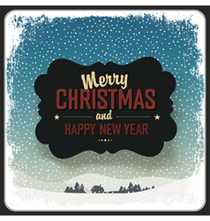 merry christmas vintage label design template vector image