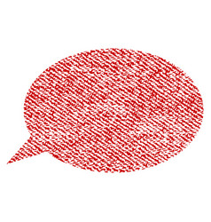 message cloud fabric textured icon vector image