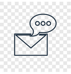 message concept linear icon isolated on vector image