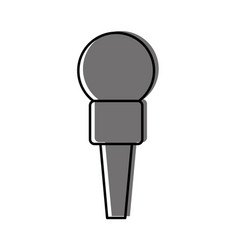Microphone communication device icon vector