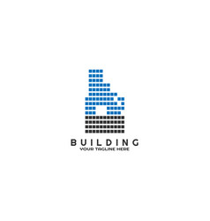 modern building logo template logo for business vector image