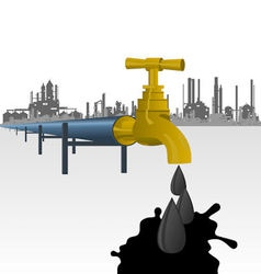 Oil producing factory vector