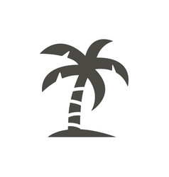 palm icon beach tree symbol isolated tren vector image