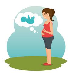 pregnancy newborn baby icon vector image