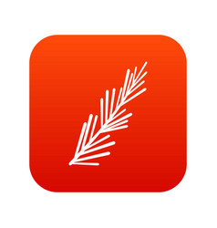rosemary spice icon digital red vector image