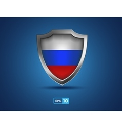 Russia shield on the blue background vector image