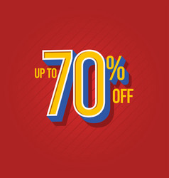 Sale discount up to 70 off template design vector
