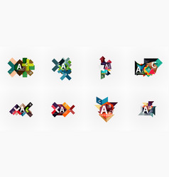 set of geometric design abstract option vector image