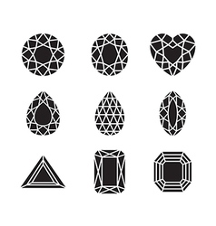 silhouette gem vector image