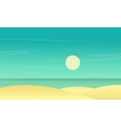 Silhouette of beach scenery flat vector