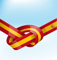 spain ribbon flag vector image