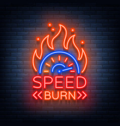speed burn logo emblem template logo in vector image