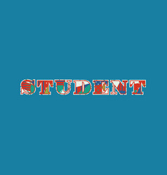 Student concept word art vector