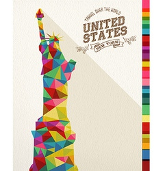 Travel USA landmark polygonal monument vector image