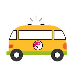 Van style hippie icon vector