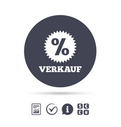 Verkauf - sale in german sign icon star vector