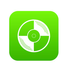 vinyl record icon digital green vector image