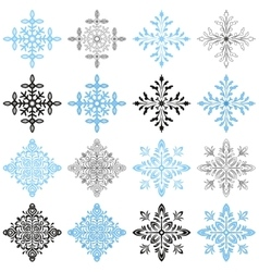 Winter Snowflakes Set vector