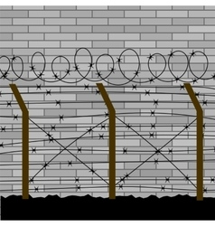 Barbed Wire Fence vector image