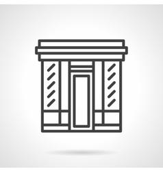 Book store facade simple line icon vector image vector image