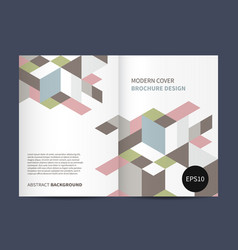 modern brochure design vector image