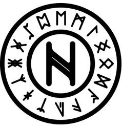 nagal rune vector image vector image