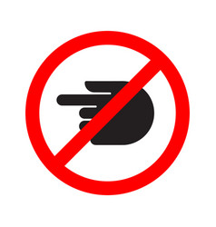 turn forbidden sign hand vector image vector image