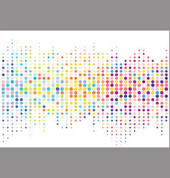 abstract colorful halftone texture dots pattern vector image