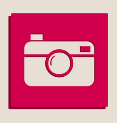 digital photo camera sign grayscale vector image