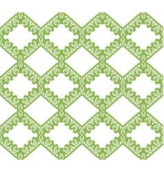 greenery eco rhombus seamless pattern background vector image