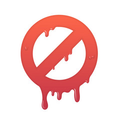 melting stop icon not allowed info symbol vector image