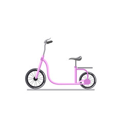 pink colored child cycle vector image vector image